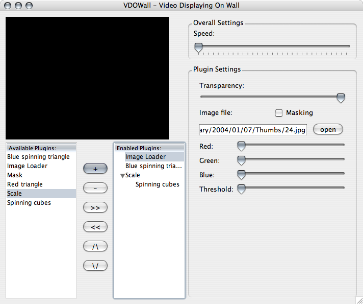 VDOWall 0.1 on Mac OS X